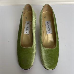 Vintage NORDSTROM Key Lime Velvet Heels